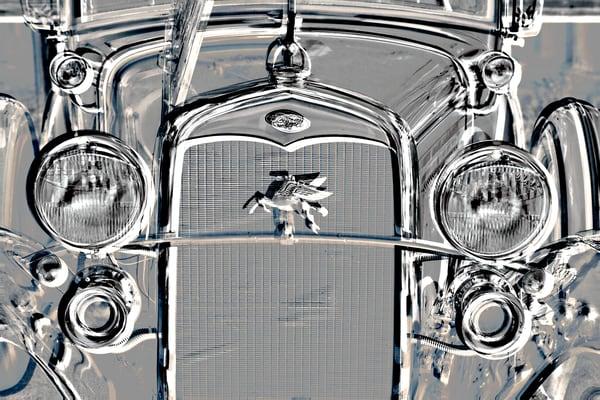 Metal Print Classic Car1929 Ford Grill 3012.03