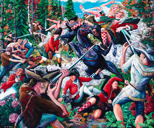 Battle Of Kings Mountain Art | George Terry McDonald Art