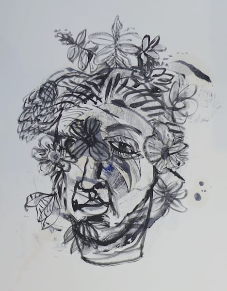 Face with Flower