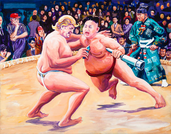 Sumo Trumpoon Art | George Terry McDonald Art
