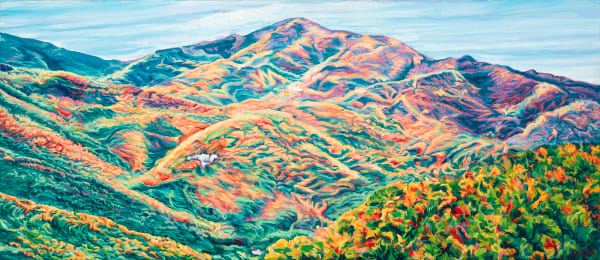 Cold Mountain Wide Angle Art | George Terry McDonald Art