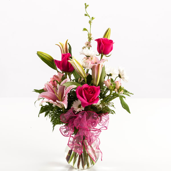 Roses and Lilly Flower Bouquet 3789.02