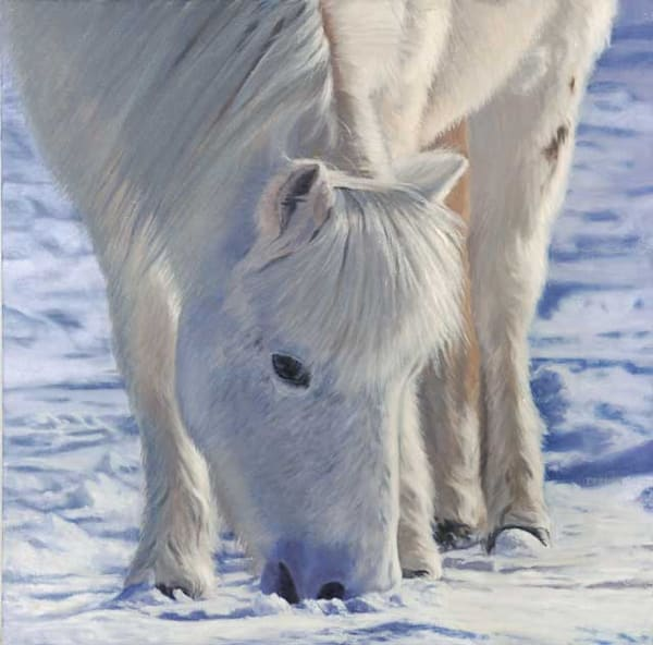 Winter coat fine art print by Sally Berner.
