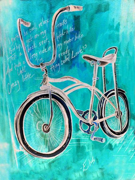 Elvis Blue Bike Art | Art By Dana
