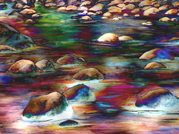 Multicoloured Rocks Art | Art By Dana