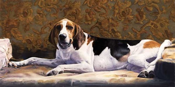 Sanctuary hound fine art print by Sally Berner.