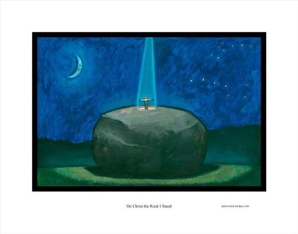On Chirst the rock I stand fine art print by Kristofer Bjorklund.