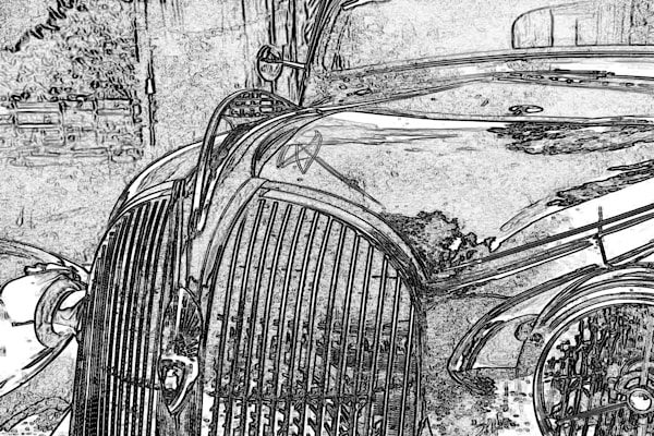 Dodge line art, 1934 dodge, hood decal