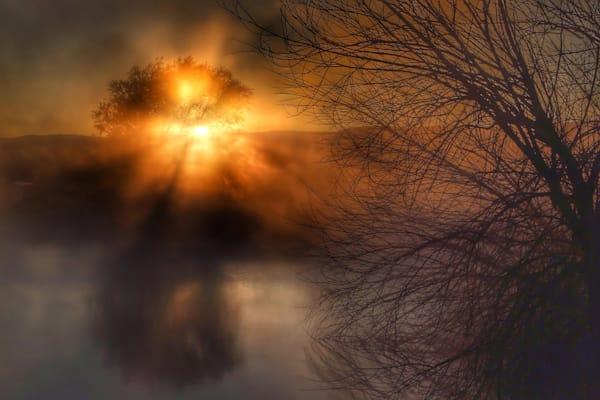 Mist sunrise,