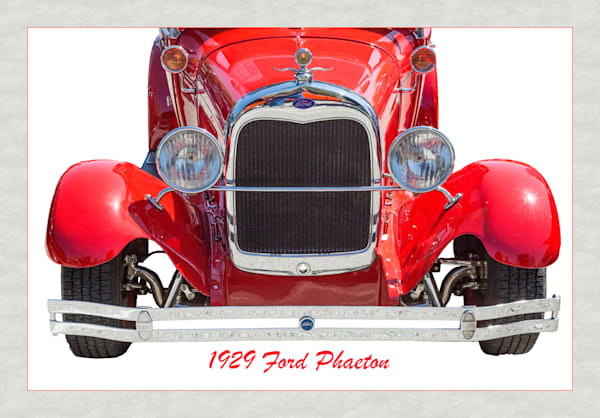 1929 Ford Phaeton Classic Car Front End 3501.02