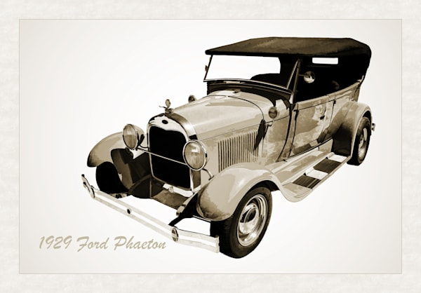 Canvas Print 1929 Ford Phaeton Antique Car i3498.01