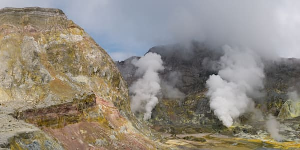 Whakaari Panorama Photograph for Sale as Fine Art.