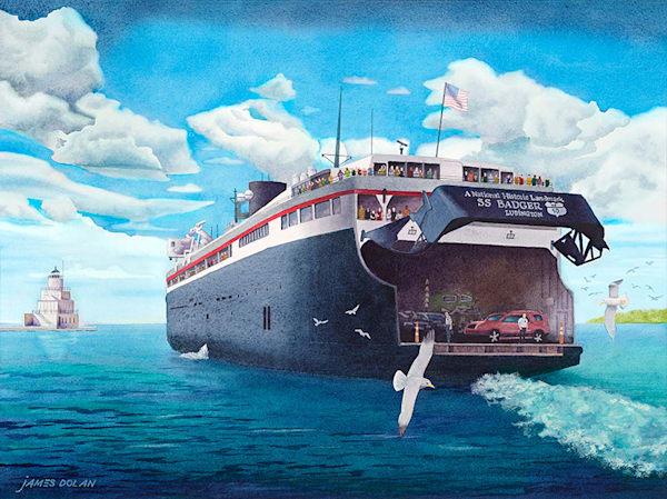 Manitowoc Departure fine art print by Jim Dolan.