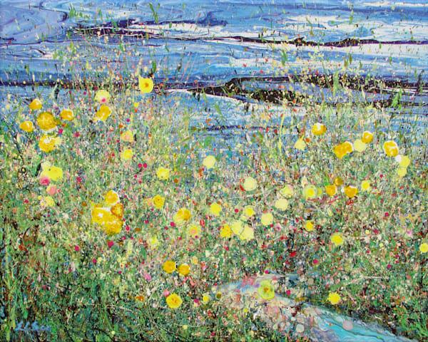 Sweet Gathering/Abstract Wildflowers Art/En Chuen Soo