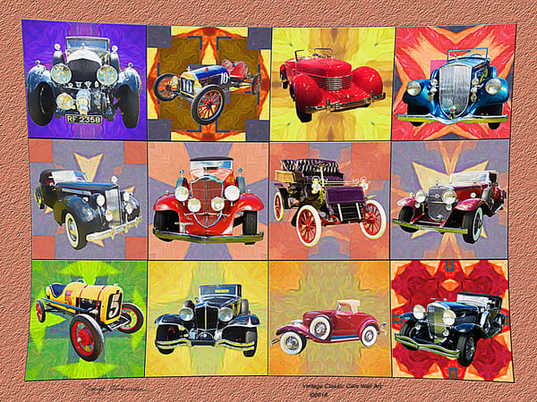 Classic Antique Cars On Canvas - The Gallery Wrap Store