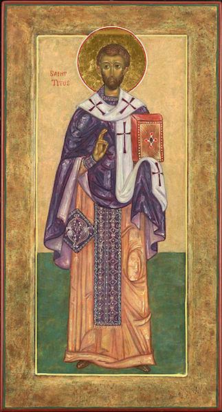 Saint Titus fine art print by Katherine de Shazer.