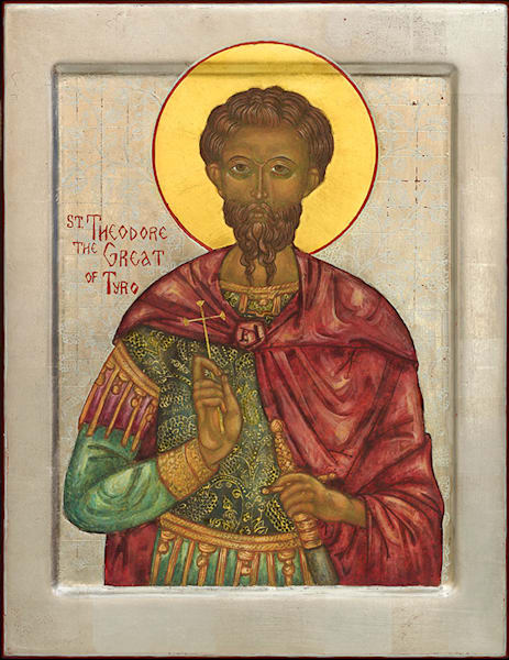 St Theodore the Great of Tyro fine art print by Katherine de Shazer.