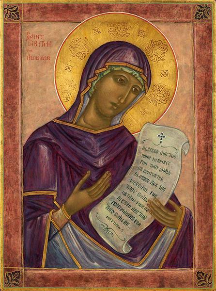 Saint Tabitha the Almsgiver fine art print by Katherine de Shazer.