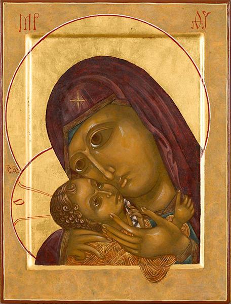 Mother of Yaroslav fine art print by Katherine de Shazer.