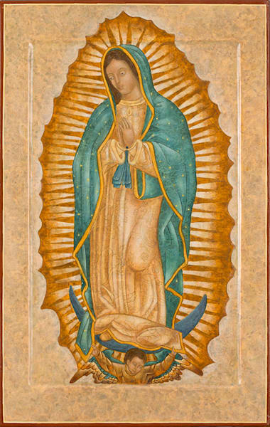 Our Lady of Guadalupe fine art print by Katherine de Shazer.