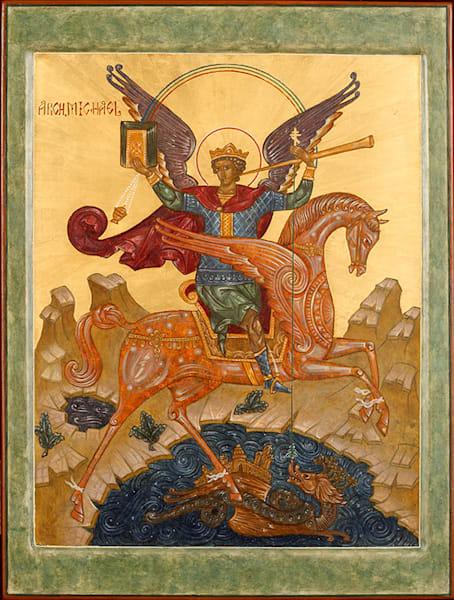 Archangel Michael fine art print by Katherine de Shazer.