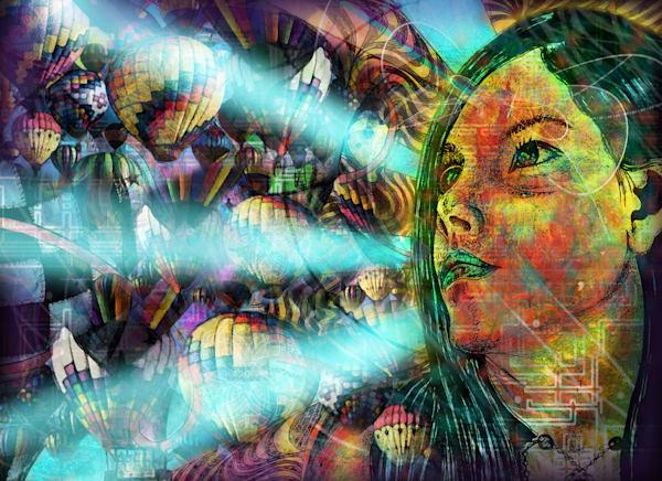 Mind Floats(Illumination) Art | CMS Art Prints