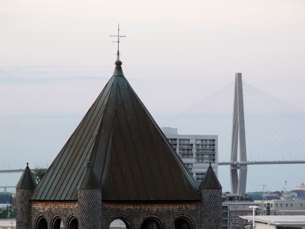 Ravenal Bridge and St. Philip's Church photograph
