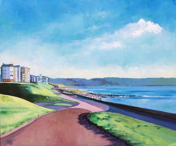 Llanelli Coastal Path Art Print