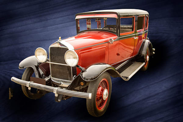 1929 Willys Knight Classic Car on Blue 4553.02