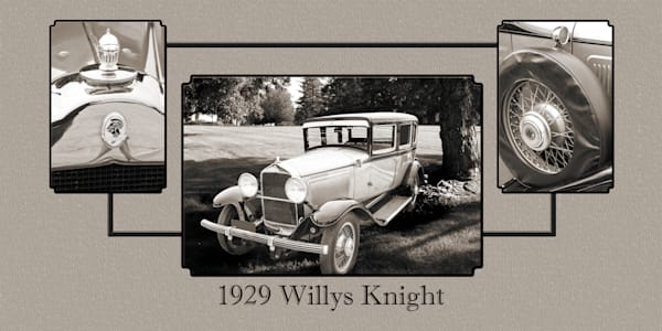 1929 Willys Knight Classic Car Collage 4573.01