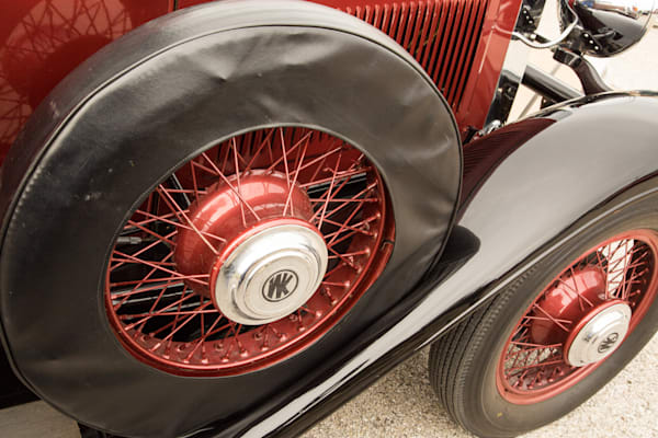 Covered Spare Tire 1929 Willys Knight Car 4561.02
