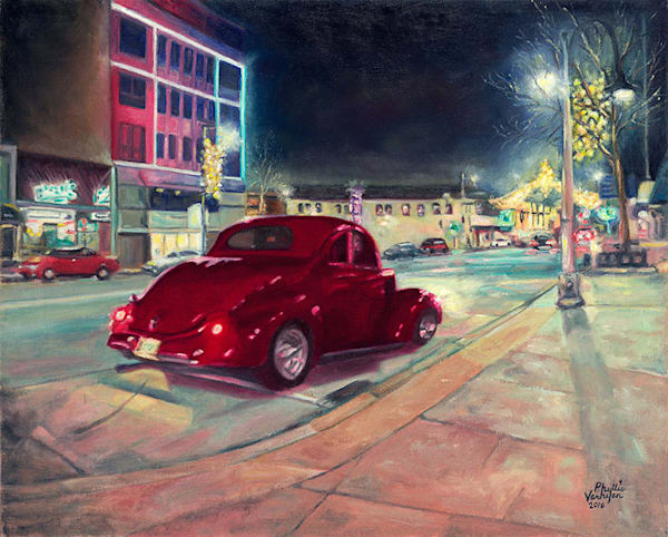 '37 Ford On The Ave, fine art print by Phyllis Verhyen.