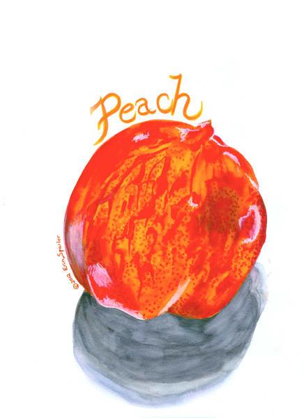 pink watercolor peach