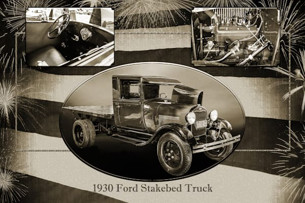 Collage 1930 Ford Stakebed Truck 5512.53