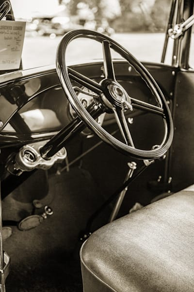 Inside 1930 Ford Stakebed Truck 5512.57