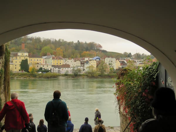 View of Passau, Germany though an arch. IMG 1026