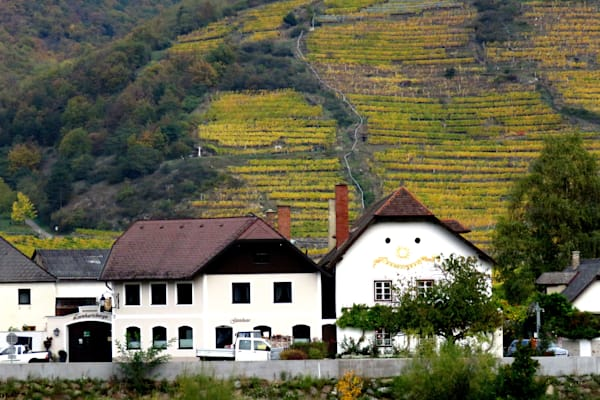 Krems, Austria farm with 'happy face' barn
