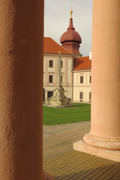 Peeking between pillars-Krems, Austria