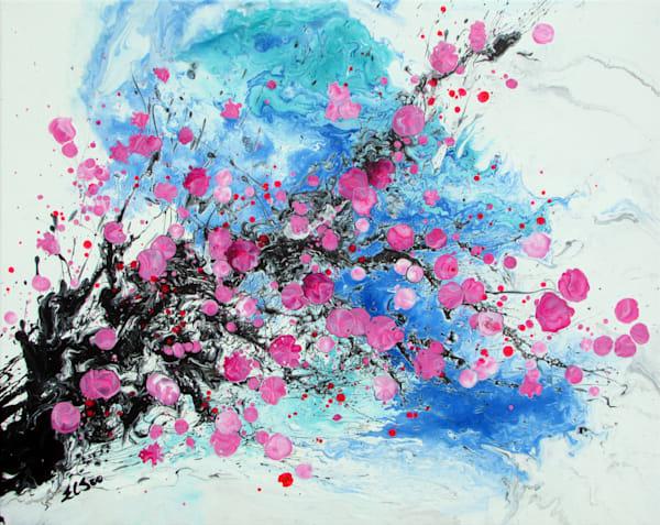 Oriental Floral Painting, Hanmei #1 By En Chuen Soo