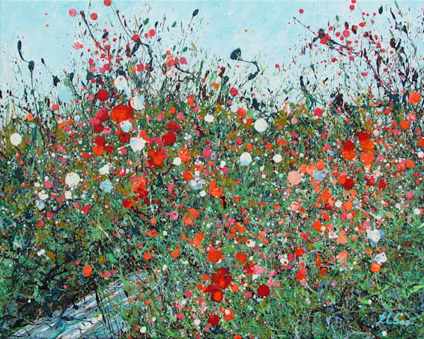 Awakening, Abstract Wildflowers Art,