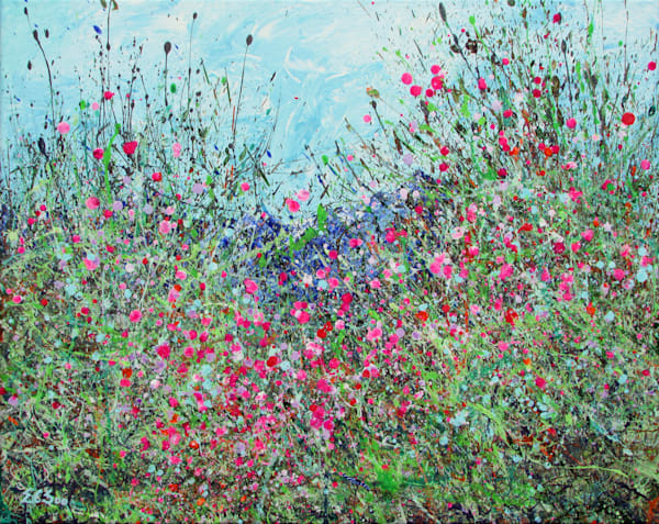 Rising, Abstract Wildflowers Art