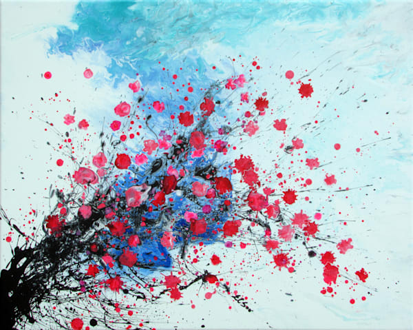 Abstract Floral Art, Hanmei #3 Plum Blossoms,