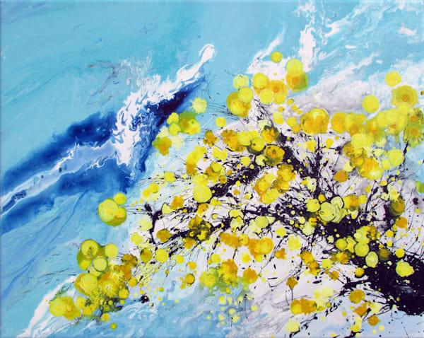 Huangmei #2 Modern Oriental Plum Blossoms Art
