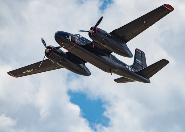 Photo of Lady Liberty, Douglas Aircraft Company A-26 Invader Flyby