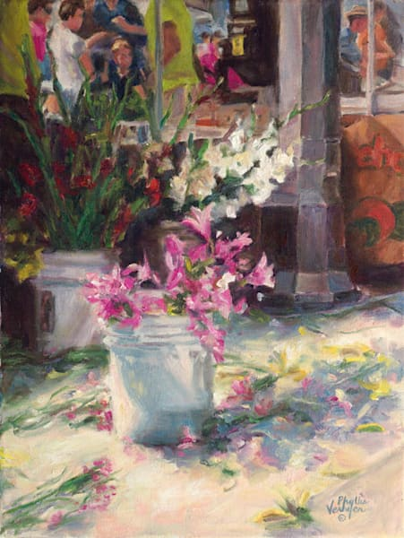 Appleton Market Flowers fine art print by Phyllis Verhyen.