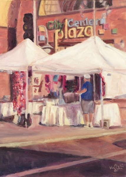 Appleton City Center Plaza fine art print by Phyllis Verhyen.