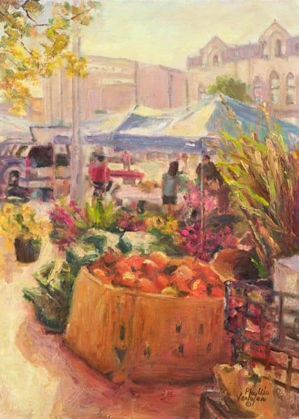 Fall Market Pumpkins fine art print by Phyllis Verhyen.