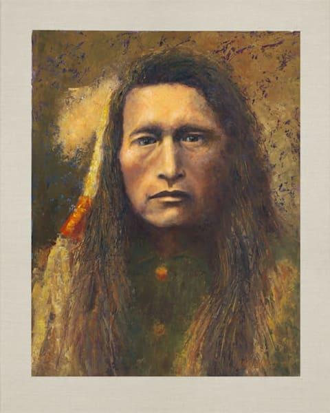 Young Kutenai, Native American Portrait, Oil Painting by Mark Kashino