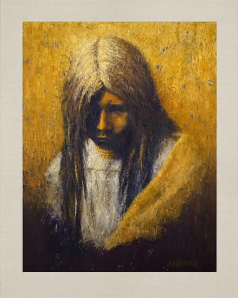 Zosh Clishn, Apache Girl, Native Americans, American Indians, Portraits, Oil Paintings, Mark Kashino