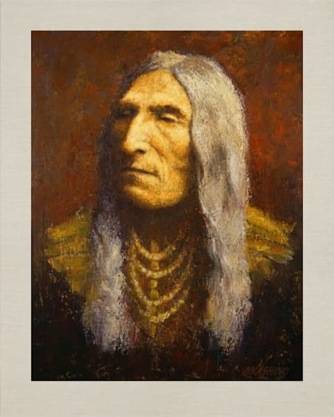 Double Runner, Cheyenne, Native Americans, American Indians, Portraits, Oil Paintings, Mark Kashino